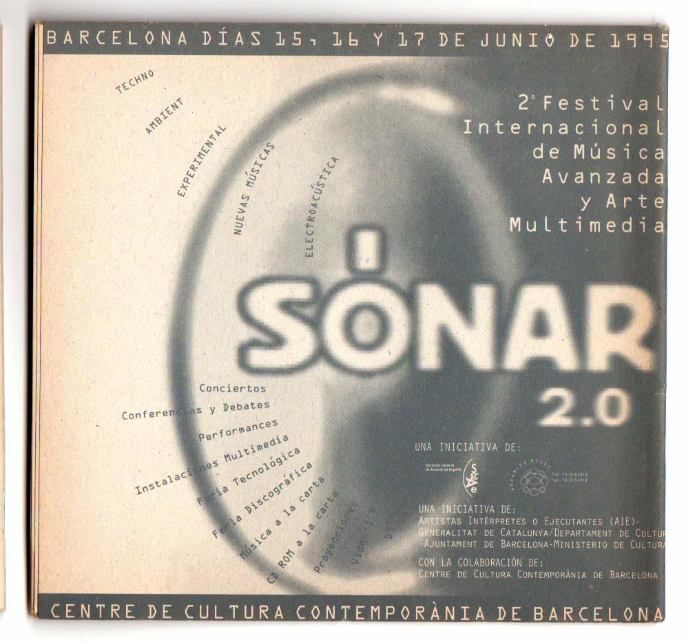 Anuncio de SÓNAR 2.0 en fanzine