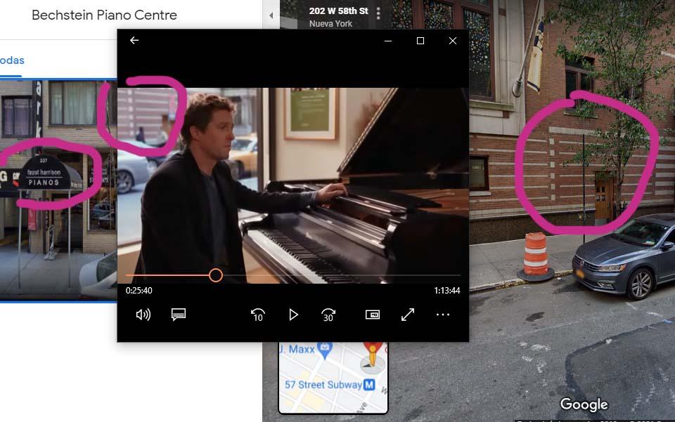 Bechstein Piano Centre, New York en la película Music & Lyrics